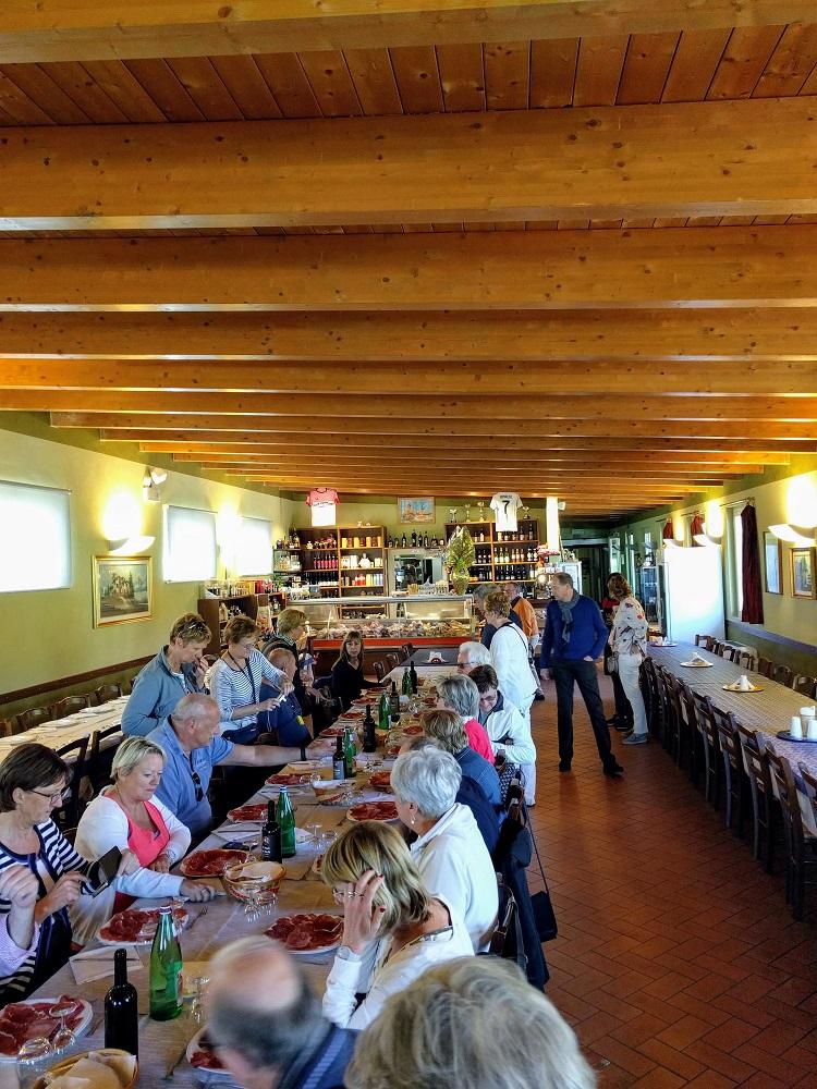 Parma - lunch in de Salumificio La Perla
