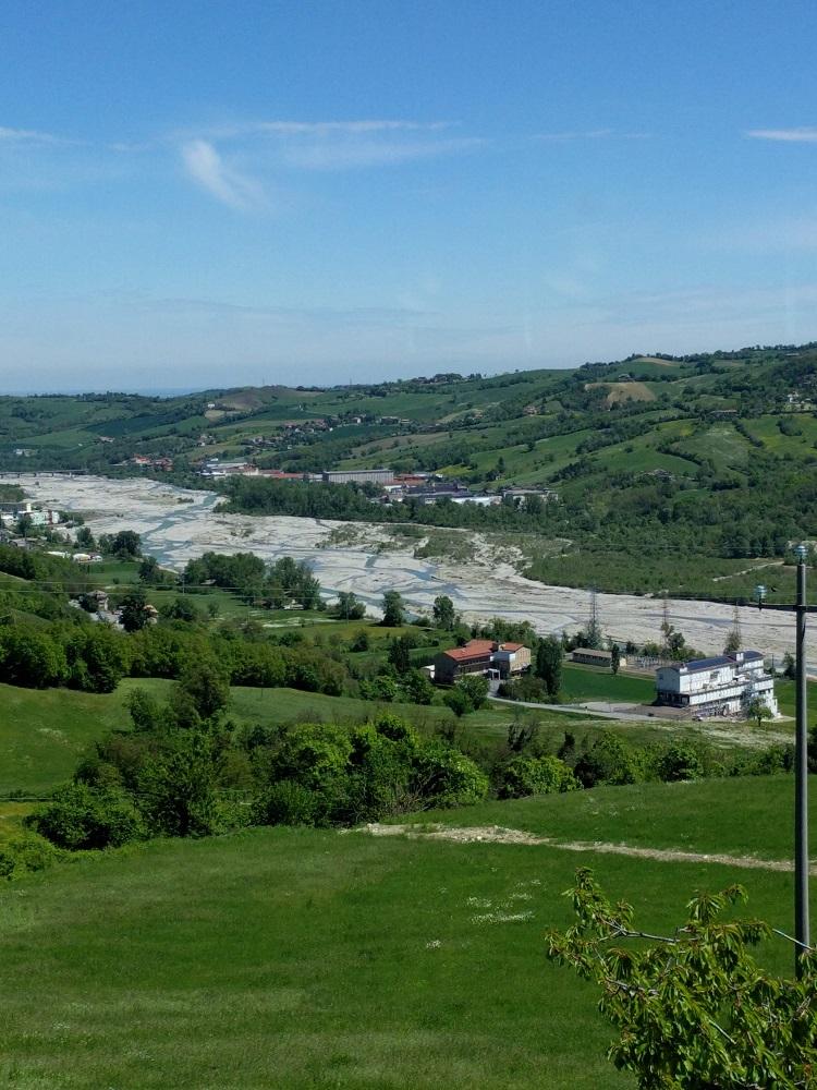 Parma - Salumificio La Perla - zicht op de vallei