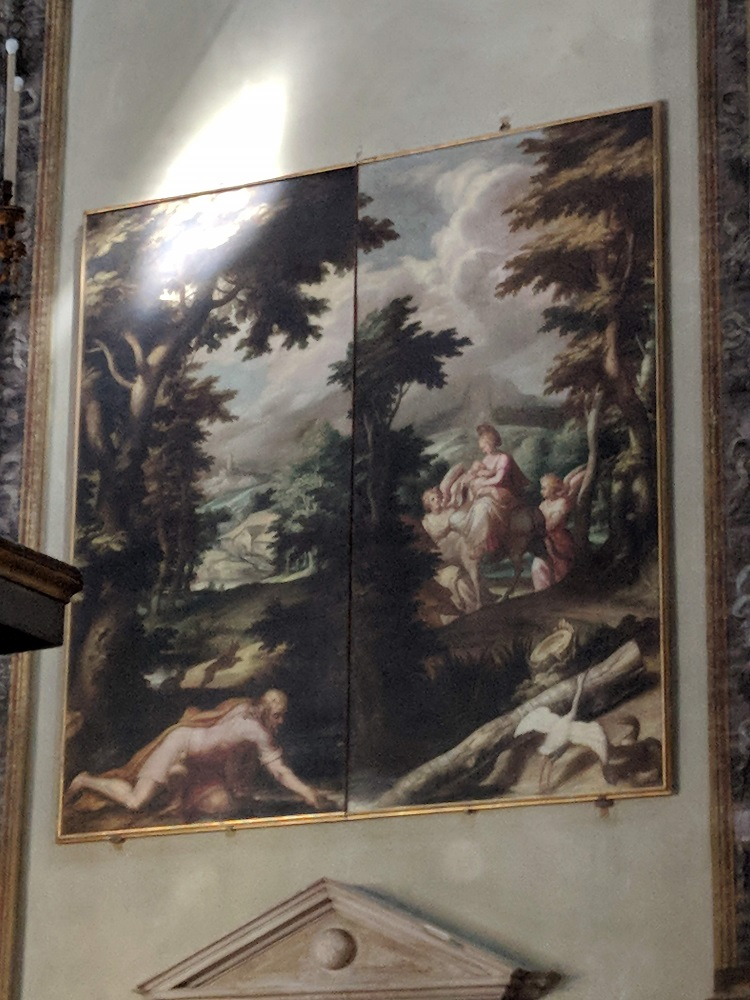 Parma - Santa Maria della Steccata - tafereel met zogende moeder Maria