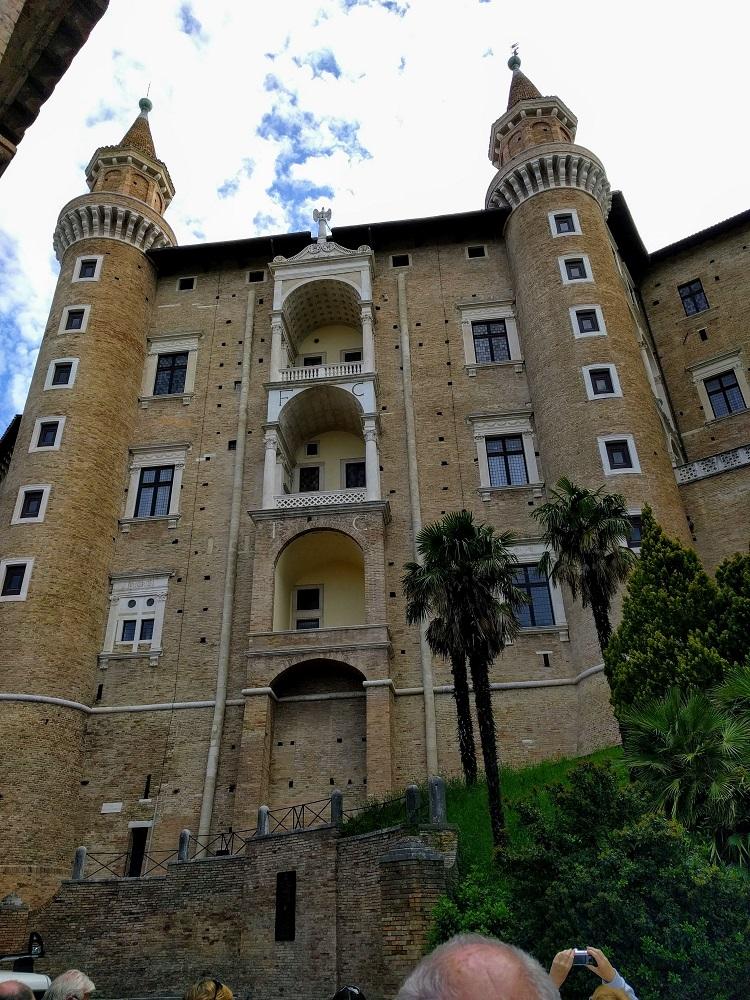 Urbino - paleis - achtergevel