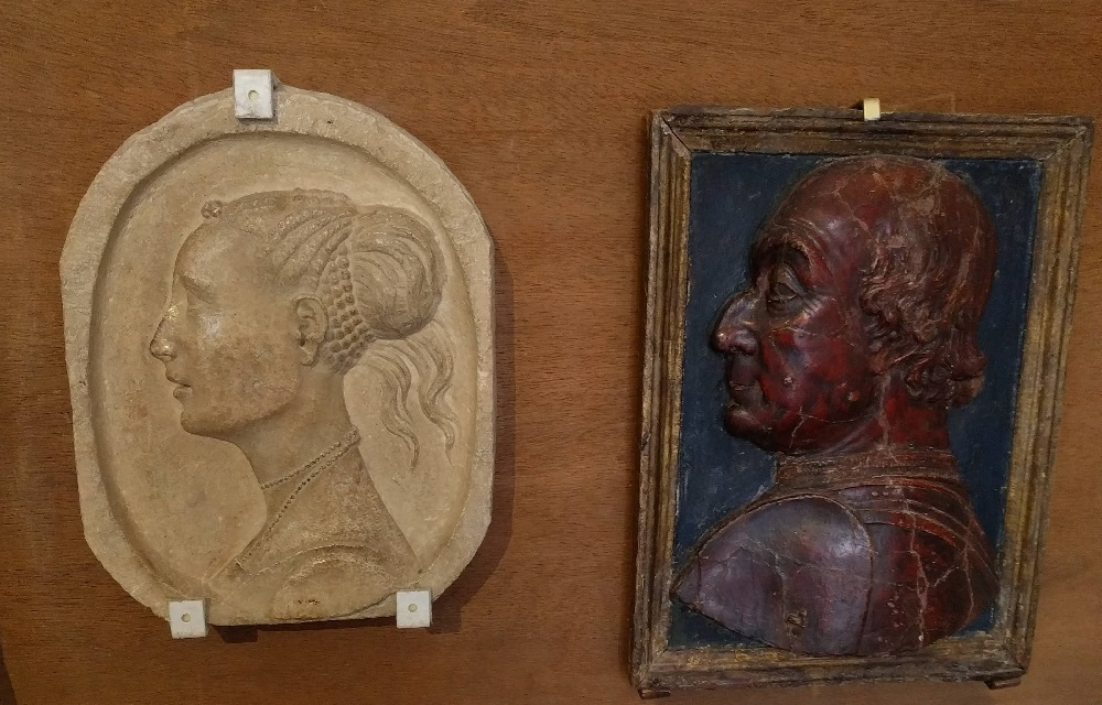 Urbino - paleis - profielen van de hertog en de hertogin