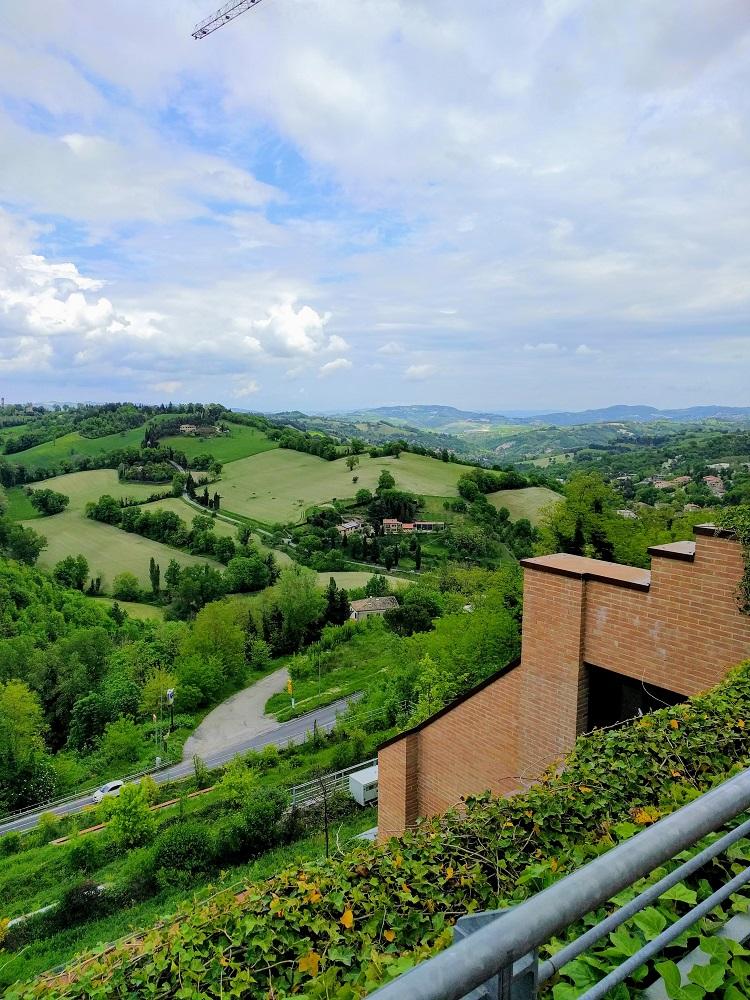 landschap in de regio's Umbrië en Marche